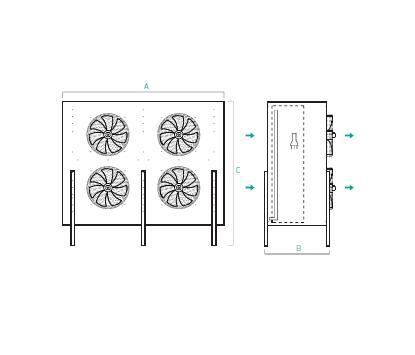 Evaporadores Murales Industriales Verticales Ventilacion Frontal MC – Planos