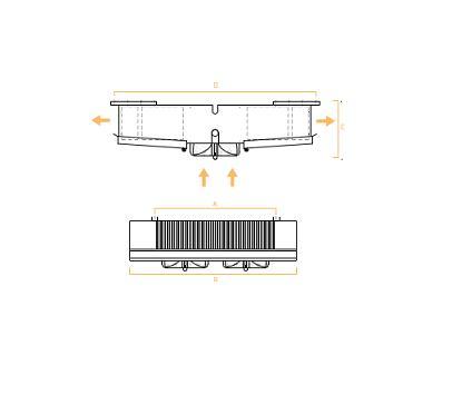 Evaporadores De Techo Doble Bateria GRESEC – Planos
