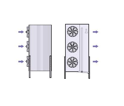 Evaporadores Murales Industriales Verticales PCF - Planos