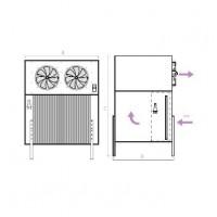 Evaporadores Murales Industriales Verticales SH - Planos