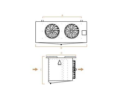 Evaporadores Cubicos Doble Bateria MESEC – Planos